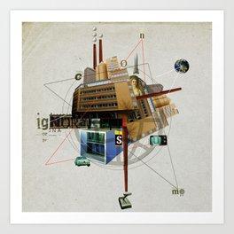 Collage City Mix 1 Art Print