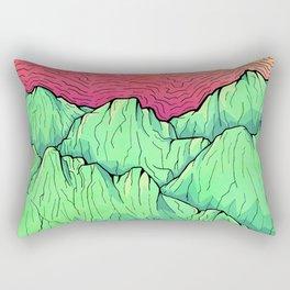 Lime tone mountains Rectangular Pillow