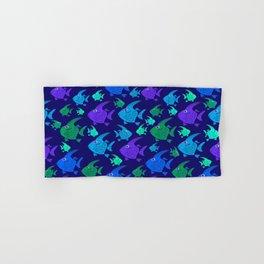 Cartoon Fish In Blues And Greens. Hand & Bath Towel