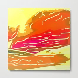 abstract style aurora borealis absstdi Metal Print
