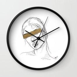 Gold Bar Wall Clock