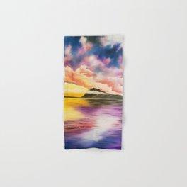 Drama Drama Drama, Cloudy Sky, Colorful Sunset, Beach Sunset Hand & Bath Towel