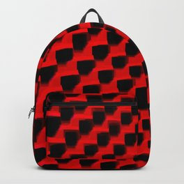 Eye Play in Black and Red Backpack