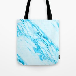 Blue and Cream Marble Pattern Tote Bag
