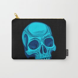 Skull - Cyan Carry-All Pouch