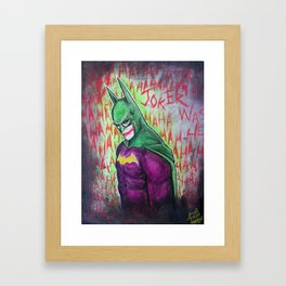Joker was here Framed Art Print