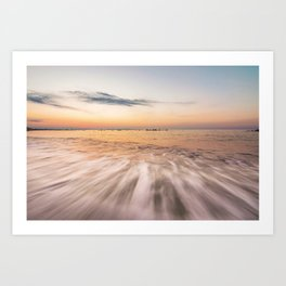 Shades in the waves Art Print