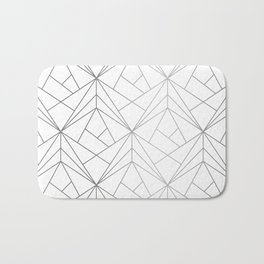 Geometric Silver Pattern Bath Mat