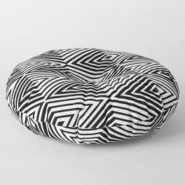 LAURO DIAMOND GEOMETRIC BLACK AND WHITE Floor Pillow