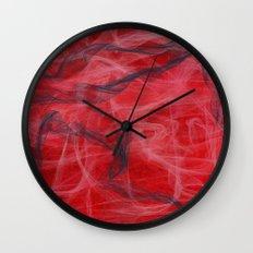 Red and Smoke Wall Clock