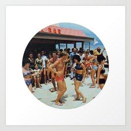 Party At The Beach Bar Art Print