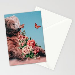 Bear on the cloud Stationery Cards