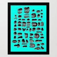 Snout Parade Art Print