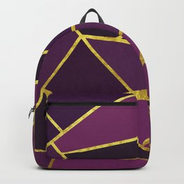 The Color of Purple And Gold Backpack