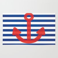 sailor Area & Throw Rugs featuring Sailor.. by PearGraphics