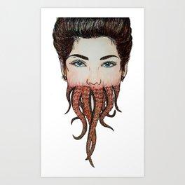 Octoface Art Print