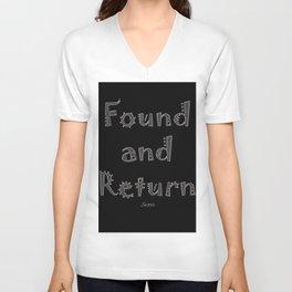 Found and Return Unisex V-Neck