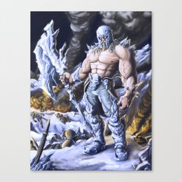 Frozen Warrior Canvas Print