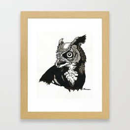 Eastern Screech Owl Framed Art Print