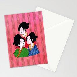 Geisha gossip Stationery Cards
