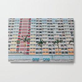 Rainbows at Choi Hung Metal Print