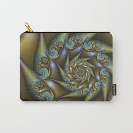 Patina, Abstract Fractal Art Fantasy Spiral Carry-All Pouch