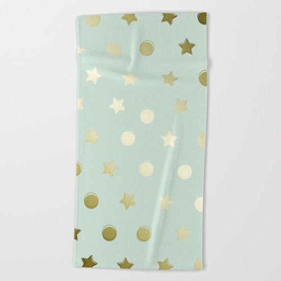 Gold Confetti Beach Towel