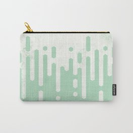 Marble and Geometric Diamond Drips, in Mint Carry-All Pouch