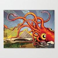 milwaukee Canvas Prints featuring MILWAUKEE: What's Kraken, Milwaukee? by Amanda Iglinski
