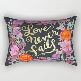 Love Never Fails -  1 Corinthians 13:8 Rectangular Pillow