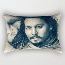 Johnny Depp II. Rectangular Pillow