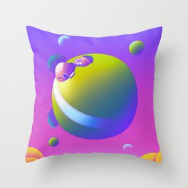 King Kai's Planet Throw Pillow