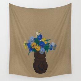 Odilon Redon - Pansies Wall Tapestry