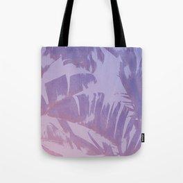 Tropical Sunset Banana Leaves Design Tote Bag