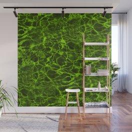 Neon Green Underwater Wavy Rippling Water Wall Mural