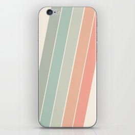 Trippin' - retro 70s socal minimal striped abstract art california surfing vintage iPhone Skin