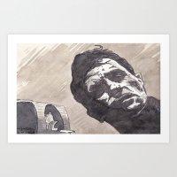 kerouac Art Prints featuring Kerouac, Radio by Hosho McCreesh
