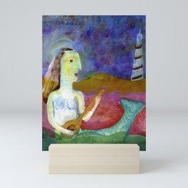 Mermaid painting Mini Art Print