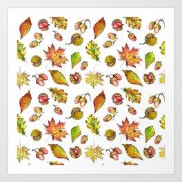 Autumn Forest pattern Art Print