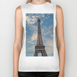Eiffel Tower, Paris (Portrait) Biker Tank