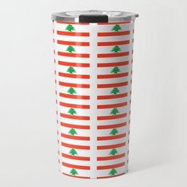 Flag of Lebanon-Lebanese,لبنان ,liban,libanais,beirut,cannaanite,phienician. Travel Mug