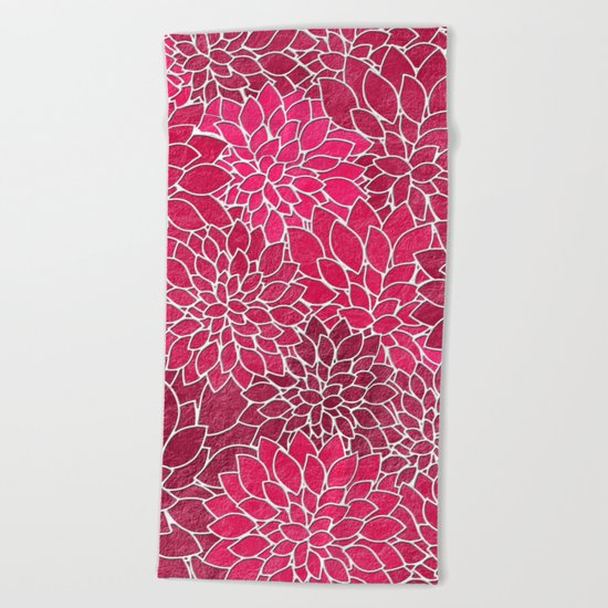 Floral Abstract 19 Beach Towel