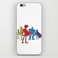 teen titans iPhone & iPod Skins featuring [ Teen Titans ] Robin, Starfire, Raven, Beast Boy and Cyborg by Vyles