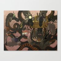 Eight Headed Demon Canvas Print