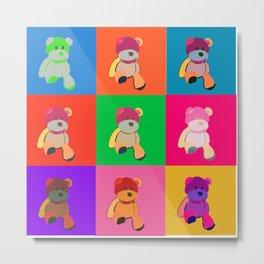 Pop Art Teddy Bear Metal Print