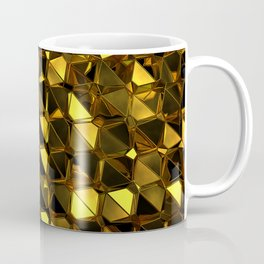Golden Polygons 02 Coffee Mug