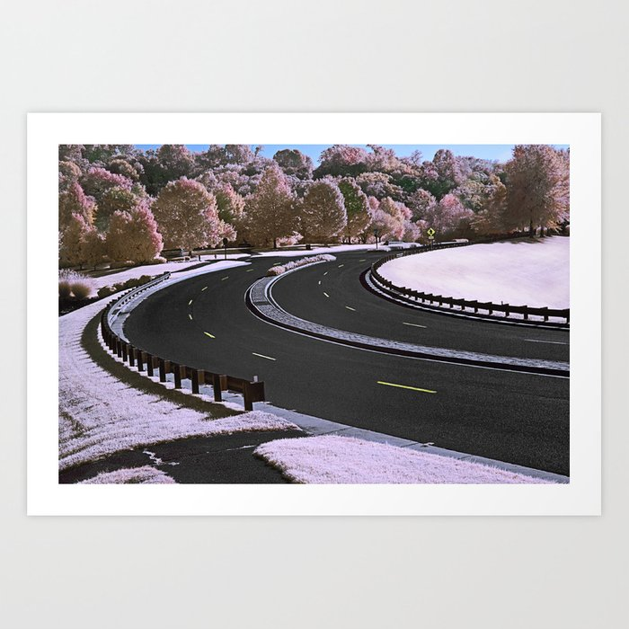 Around the Bend Art Print