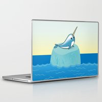 narwhal Laptop & iPad Skins featuring narwhal by bunnyandbird