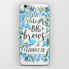 Big Brows – Blue Palette iPhone & iPod Skin
