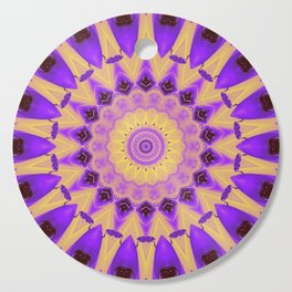 Bold Purple and Yellow Mandala Cutting Board